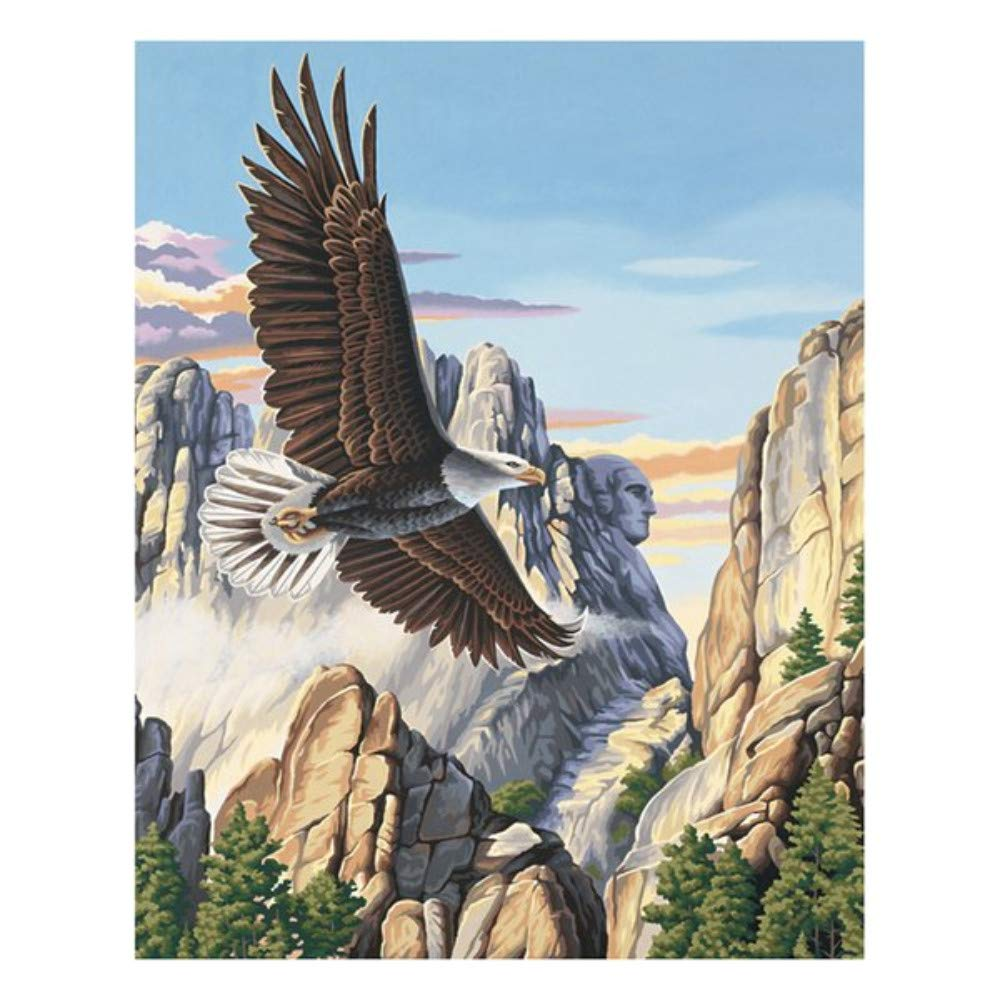 Paint By Numbers Soaring Eagle For Adult Kids Toy Home Wall Art Decoration Diy Gift 40X50CM No Frame