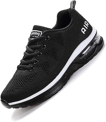 SMARTEN Air Zapatillas de Running,Hombre Mujer Calzado Deportivo Ligero y Transpirable Asfalto Zapatos para Correr Antideslizante Sneakers Negro, Blanco, Amarillo, Azul, Rosa 34-46 EU: Amazon.es: Zapatos y complementos