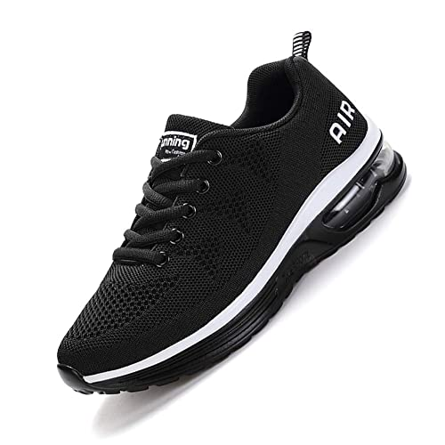 SMARTEN Air Zapatillas de Running,Hombre Mujer Calzado Deportivo Ligero y Transpirable Asfalto Zapatos para Correr Antideslizante Sneakers Negro, ...