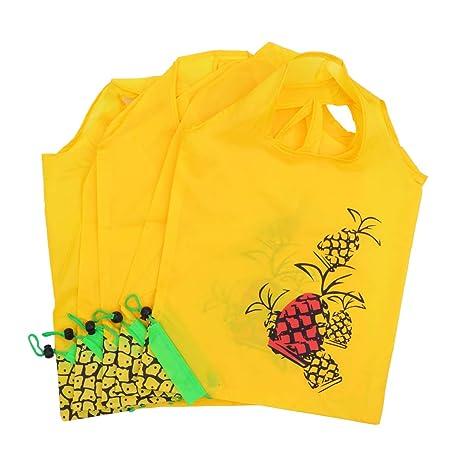 Bolsas de la compra UPKOCH, 5 unidades, con diseño de piña ...
