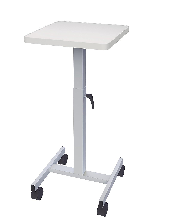 Maul 9331082 Beamertisch, OHP-Tisch 38 x 38 cm, Tragkraft 20 Kg, Höhenverstellbar, Lichtgrau, 1 Stück