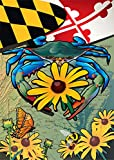 Cheap Citizen Pride Maryland Blue Crab Black-Eyed Susan House Flag by Joe Barsin, 28×40