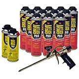Dow Great Stuff Pro Gaps and Cracks 24 oz Foam (12) + Pro Foam Gun (1) + Dow Great Stuff Pro foam Gun Cleaner (2)