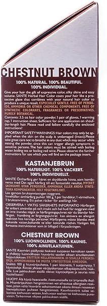 SANTE Tinte de pelo vegetal, marrón marón, 100 g