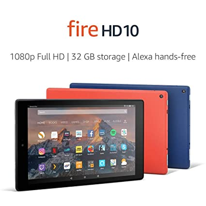 Fire HD 10 Tablet, 1080p Full HD Display, 32 GB, Black—with Special Offers