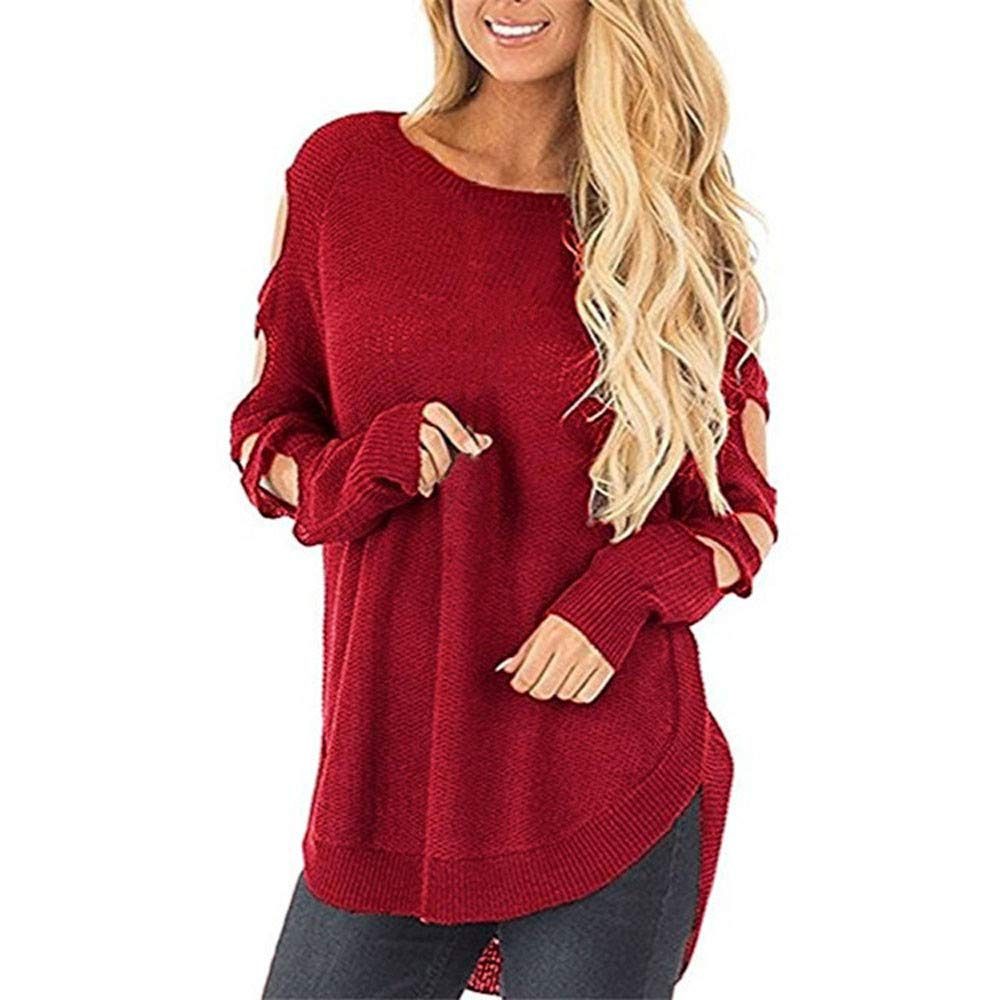 Linkay Pullover Hoodie Women Ladies Autumn Knitted Round Neck Long Sleeve Crowl Neck Lightweight Sweatshirt Hooded Outerwear Jacket Coat Tops Fashion 2018