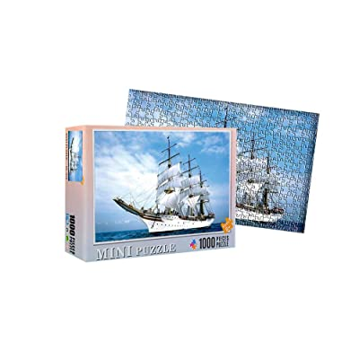 1000 Piece Jigsaw Puzzle for Adults & Kids - Sailing Ship Landscape Educational Assembling Toys - Developing Fine Motor Skills, Memory, Shape & Color Sorting - Gift for Birthday & Mother's Day: Toys & Games