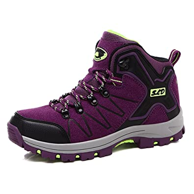 Women Men Hiking Shoes Mountain Boots Ankle High Top Shock Absorb Trail Climbing Boot Sneaker