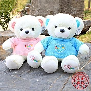 Amazon.com: 100% oso de felpa, peluche de moda muñecas de ...