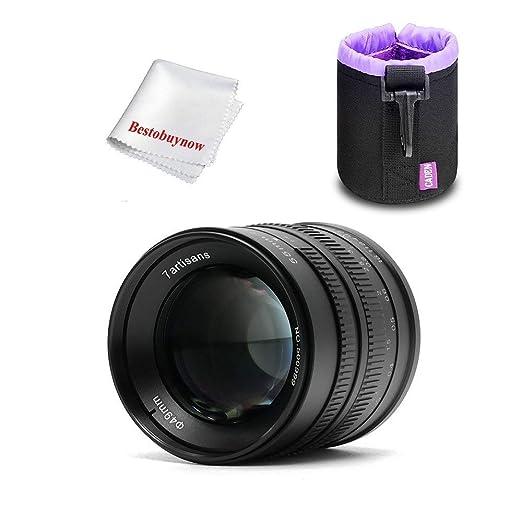 MUJING Lente de Abertura Grande f1.4 de 55 mm para cámaras Sony E ...