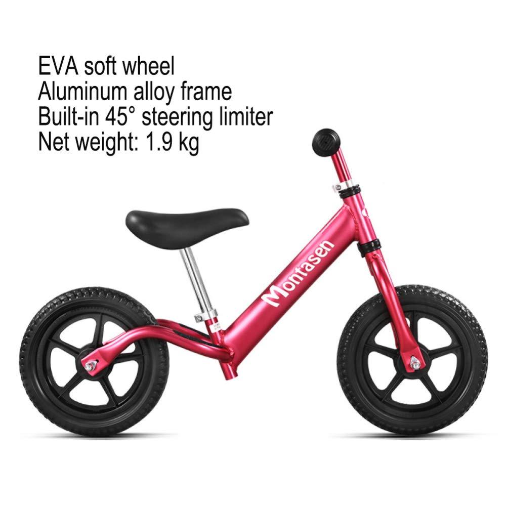 CHRISTMAD Balance Bike Ultraleichtgewicht 4.5 £ Kinderfahrrad Kinder Mit Lenkbegrenzer Für 25 Jahre Altes Kinderfahrrad Für Kinder 80-120 cm,D