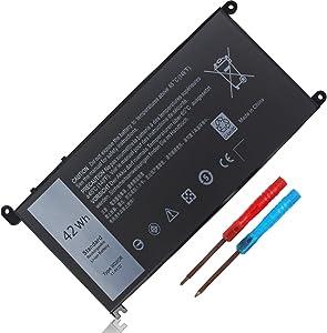 42WH WDX0R Battery for Dell Inspiron 15 5565 5567 5568 5578 5579 7579 7569 7586 7573 7560 7375 5570 13 5368 5378 5379 7378 14 7460 17 5765 5767 Latitude 3180 3189 3580 Series fc92n P66f p58f 3CRH3