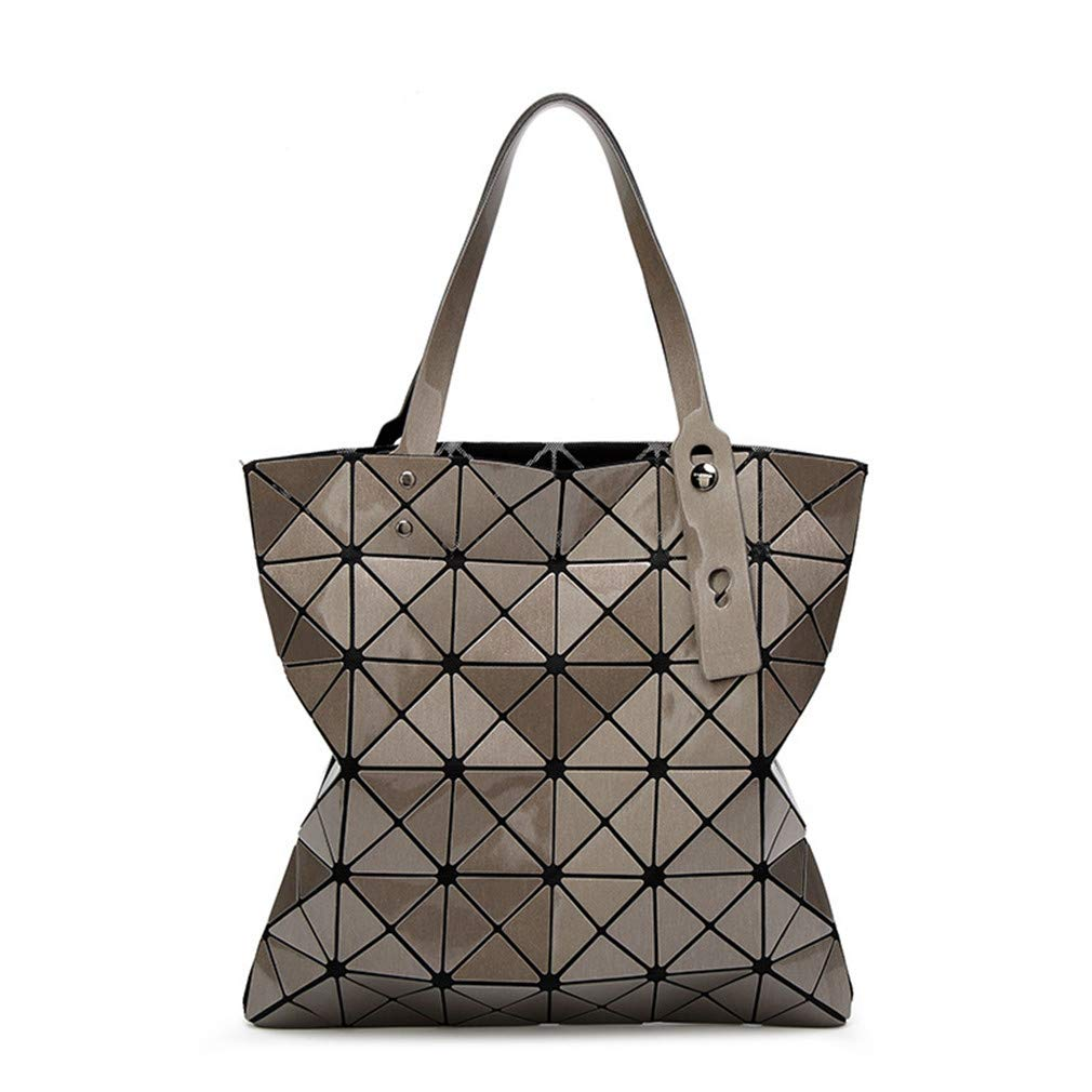 15 Colores Mujeres Geometría Bao Tote Shimmer Bolso Diamante Láser Enrejado Shopper Bolso Plegable Bolsas de Hombro Light Purple: Amazon.es: Deportes y aire ...