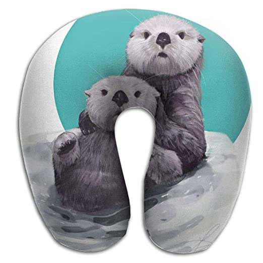 Admirable Amazon Com Kopglnm Cute Sea Otters Neck Pillow Comfortable Gmtry Best Dining Table And Chair Ideas Images Gmtryco