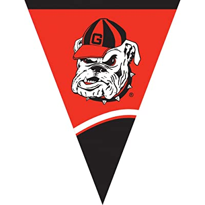 Creative Converting University of Georgia Plastic Flag Banner, 10.5-Feet: Kitchen & Dining