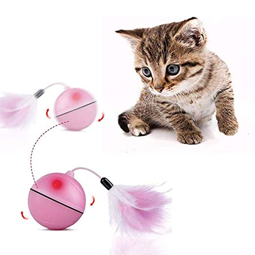 Amazon.com : Viets Ball Cat Toys - Rechargeable LED Laser Magic Ball Cat Toys Red Light Electric Rolling Ball Funny Pet Toys Teasing Cat Toy for Small Dogs ...