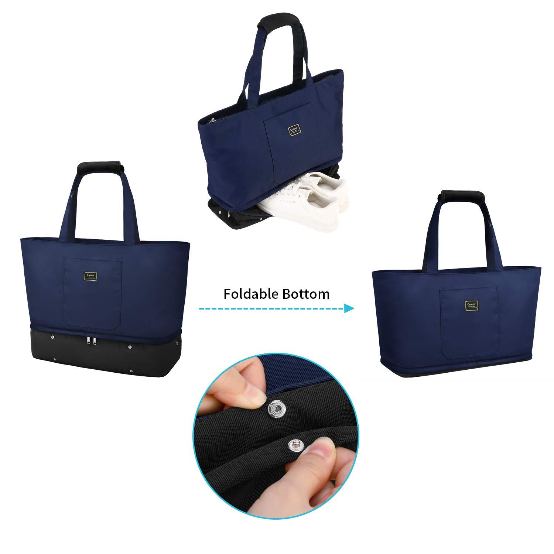 Beige Gonex Wickeltasche Gro/ße Handtasche Einkaufstasche kinderwagentasche Muttertasche babytasche f/ür Damen Segeltuch