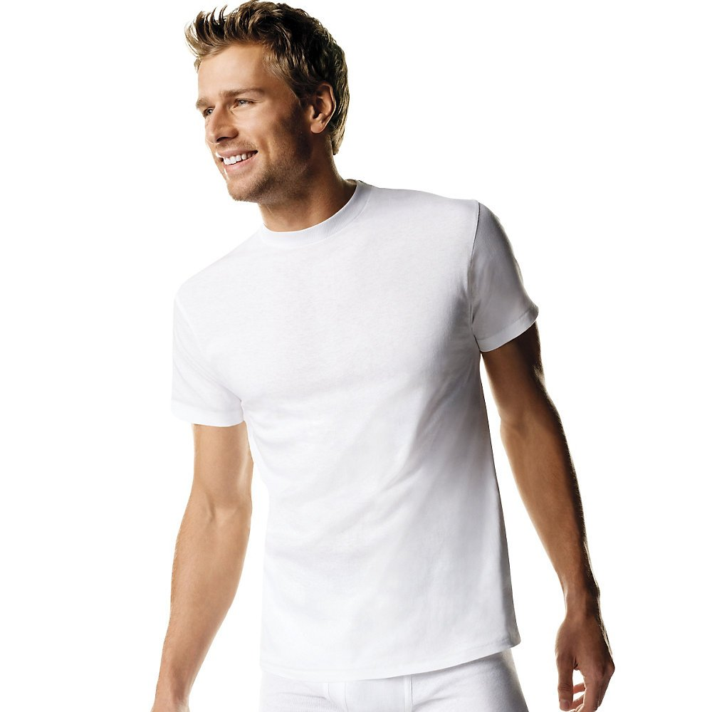 Hanes Men's Fresh IQ Big Crew T-Shirts (Pack of Five) (White, Large Tall) by Hanes