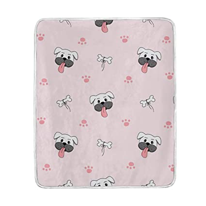 Amazon.com  U LIFE Cute Dogs Puppy Throw Blanket Soft Nap Couch Bed ... ab27833bd4