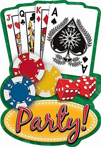 Casino Night Invitations w/ Envelopes (20ct) ()