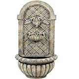 Sunnydaze Venetian Outdoor Wall Fountain with French Limestone Finish