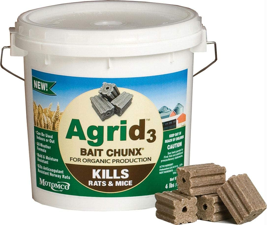 Motomco Grocery Agrid 3 Bait Chunx, 4 Pound Container