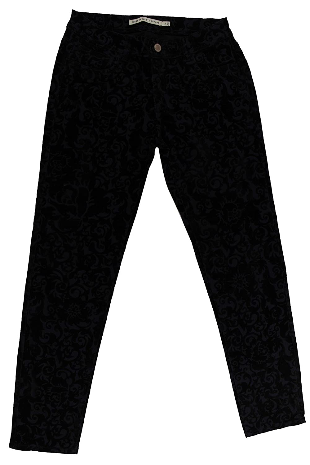 Romeo & Juliet Couture Women's Charcoal Paisley Skinny Jeans