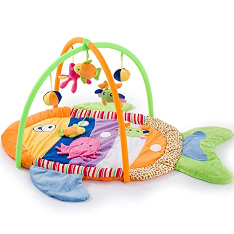 Amazon.com : Baby Crawling Mat Game Blanket Colorful Fish ...