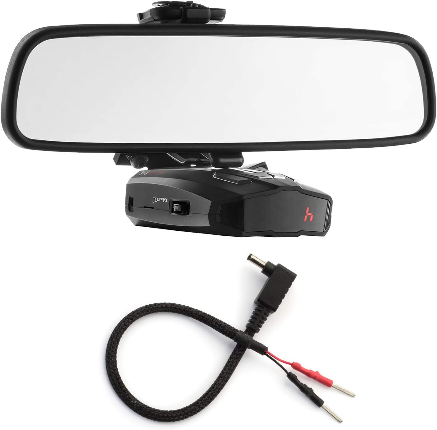 Mirror Mount Bracket Mirror Wire Power Cord for Cobra Radar Detectors