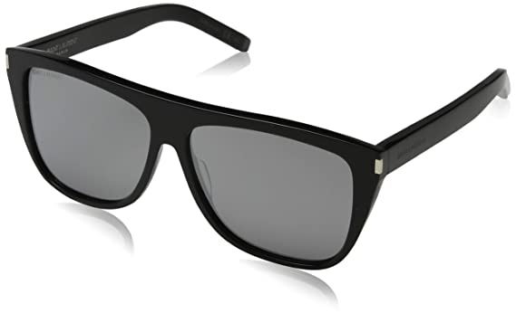 983e0fc79c0 Amazon.com: Saint Laurent Unisex SL 1 Black/Silver: Clothing