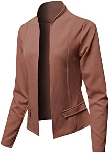 Fasclot Top and Blouse for Women Blazer Tops Long Sleeve Jacket Ladies Office Wear Cardigan Coat 4th of July, Blouses of Short Sleeve Onsale Coffee S