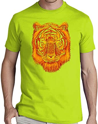 latostadora Camiseta Tigre del Fuego - Camiseta Hombre clásica, Pistacho Talla S: fathidhiaartwork: Amazon.es: Ropa y accesorios