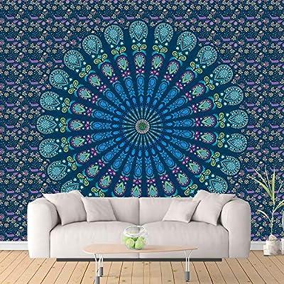 Hippy Hippy Tapestries Colgante Decorativo de Pared ShenHO Indian Mandala Hanging Colgante de Pared Blue, 150x200cm Mantel Picnic Beach Sheet