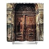 Pixels Shower Curtain (74'' x 71'') ''1891 Door Cyprus''