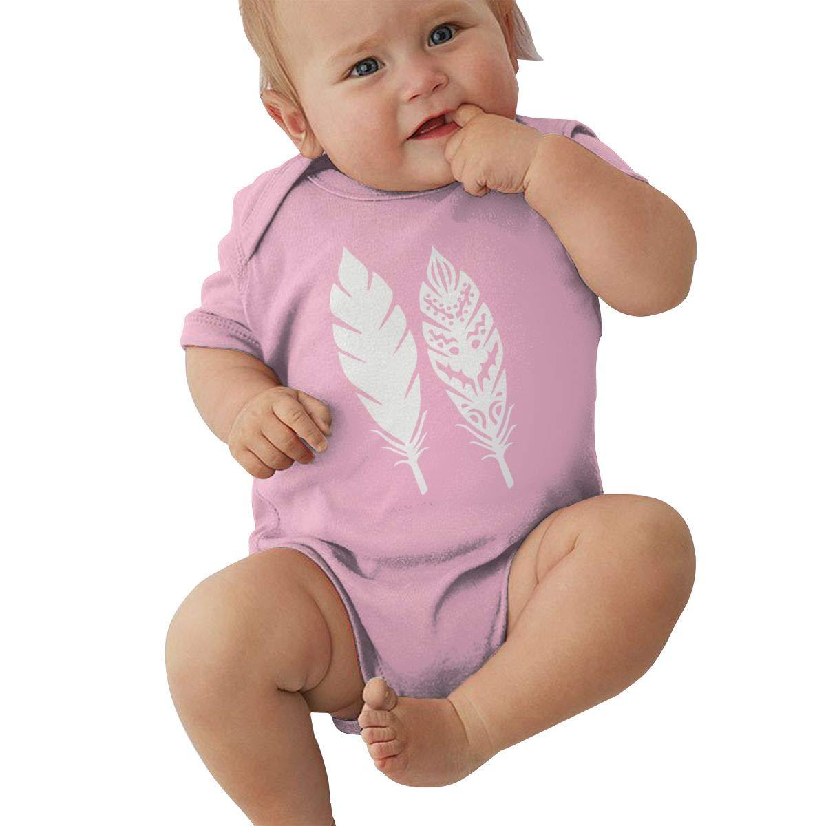 Tribal Feather1 Newborn Baby Girl Boy Romper Jumpsuit Short Sleeve Bodysuit Tops Clothes