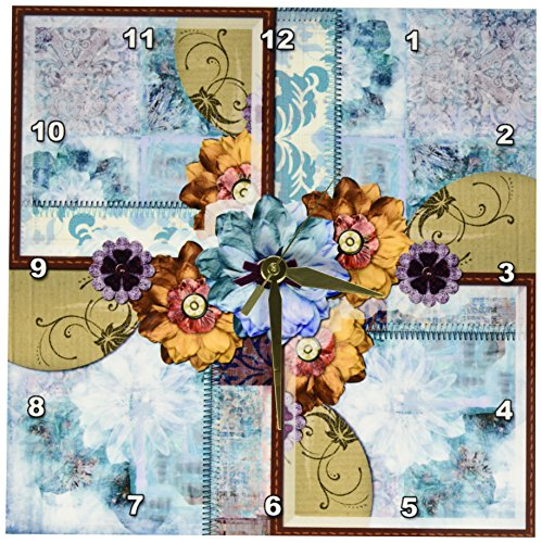Bohemian Floral Wall Clock - Bohemian wall art decor - Boho Chic Wall Art
