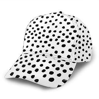 Preppy - Gorra de béisbol Ajustable con Puntos Blancos y Negros ...