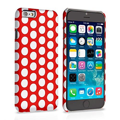 Caseflex iPhone 6 Plus / 6S Plus Hülle Rot Tupfen Hart Schutzhülle (Kompatibel Mit iPhone 6 Plus / 6S Plus - 5.5 Zoll)