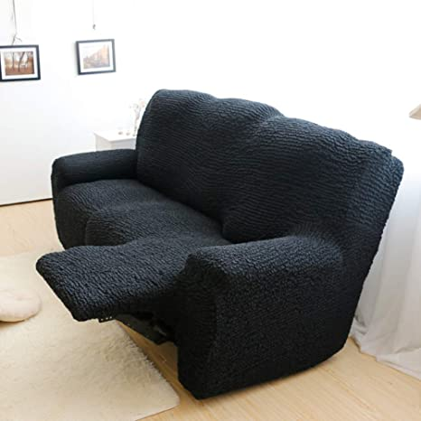 Super Sqinaa Stretch Recliner Slipcover Jacquard Sofa Cover Fit Sofa Slipcover 3 Cushion Couch 1 Piece Furniture Protector For Pets Black Two Seats Caraccident5 Cool Chair Designs And Ideas Caraccident5Info