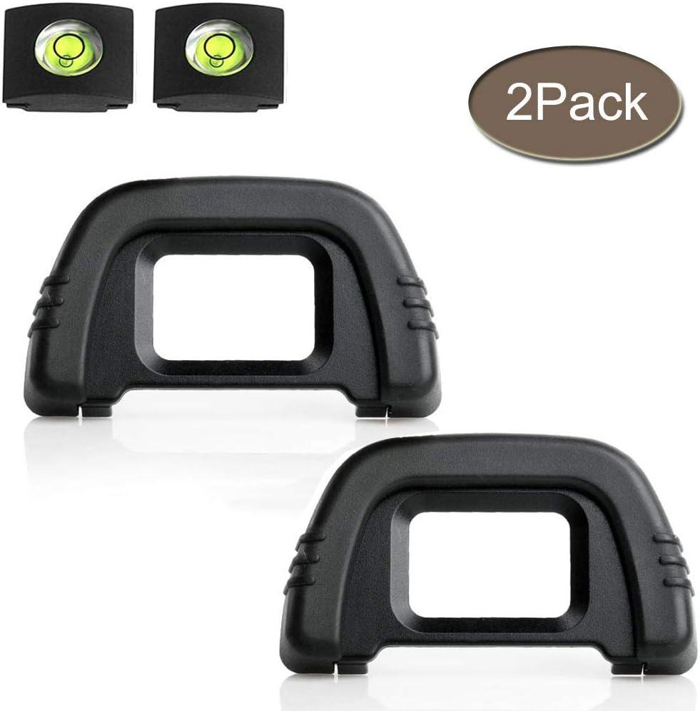 D90 D7000 - Visor Ocular Compatible con cámara DK-21 Nikon D750 D610 D600 D300 D200 D80 D70 D50, ULBTER Visor Blinker con Nivel de Burbuja para Calzado Caliente, 2 Unidades