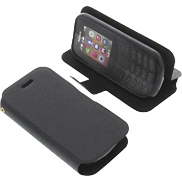 best cheap 1c5b6 027ad Cover for Nokia 130 book-style black case: Amazon.co.uk: Electronics