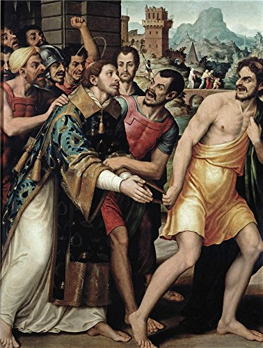 [High Quality Polyster Canvas ,the High Resolution Art Decorative Prints On Canvas Of Oil Painting 'Juanes Juan De Saint Steven Led To His Martyrdom ', 12 X 16 Inch / 30 X 40 Cm Is Best For Nursery Decoration And Home Decoration And Gifts] (Stock Coconut Shell Necklaces)