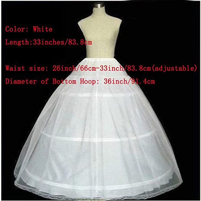Diandiai White Ball Gown Petticoat Quinceanera Dresses Crinoline Underskirt for Women: Amazon.co.uk: Clothing