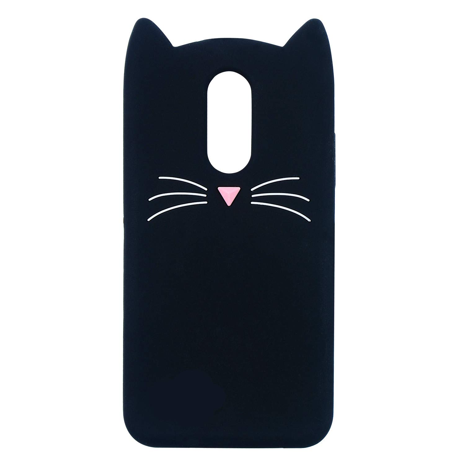 Joyleop Case for LG Stylo 4/LG Q Stylus,Cartoon Soft Silicone Cute 3D Fun Cool Cover,Kawaii Unique Kids Girls Animal Character Rubber Skin Shockproof Protector Cases for LG Stylo 4 Plus Black Cat
