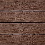 NewTechWood US-QD-ZX-RW Ultrashield Naturale Outdoor Composite Quick Deck Tile (10 Case), 1' x 1', California Redwood