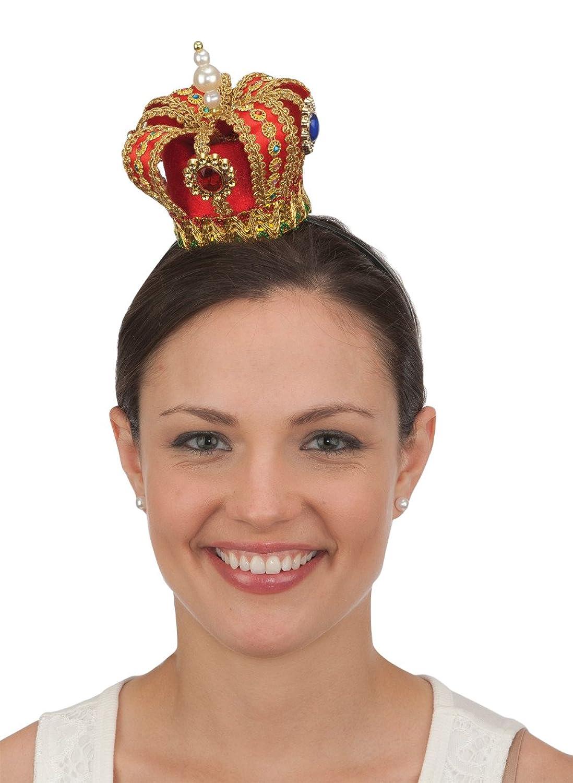 Women's Deluxe Mini Red Queen Crown - DeluxeAdultCostumes.com