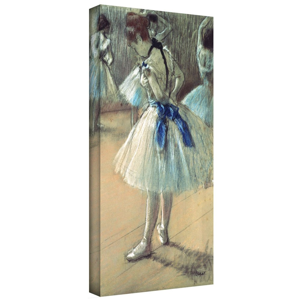 ArtWall 'Dancer' Gallery-Wrapped Canvas Artwork by Edgar Degas, 14 by 24-Inch