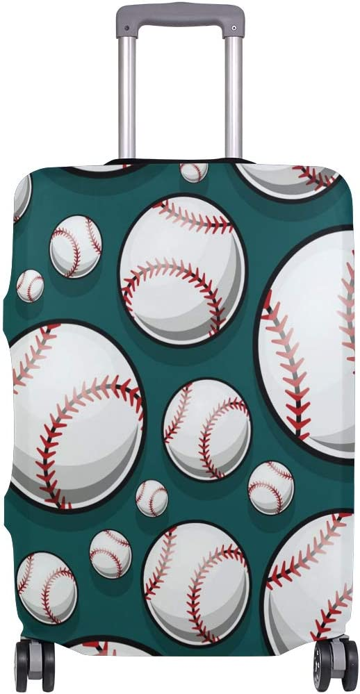 Baggage Covers Baseball Softball Pattern Sports Washable Protective Case