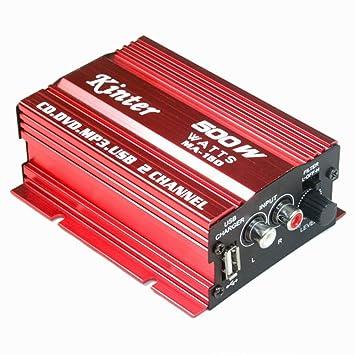 MA150 Kinter Amplificador Digital Estéreo USB 2 Canales De Audio Del Altavoz - Para Autos Coches