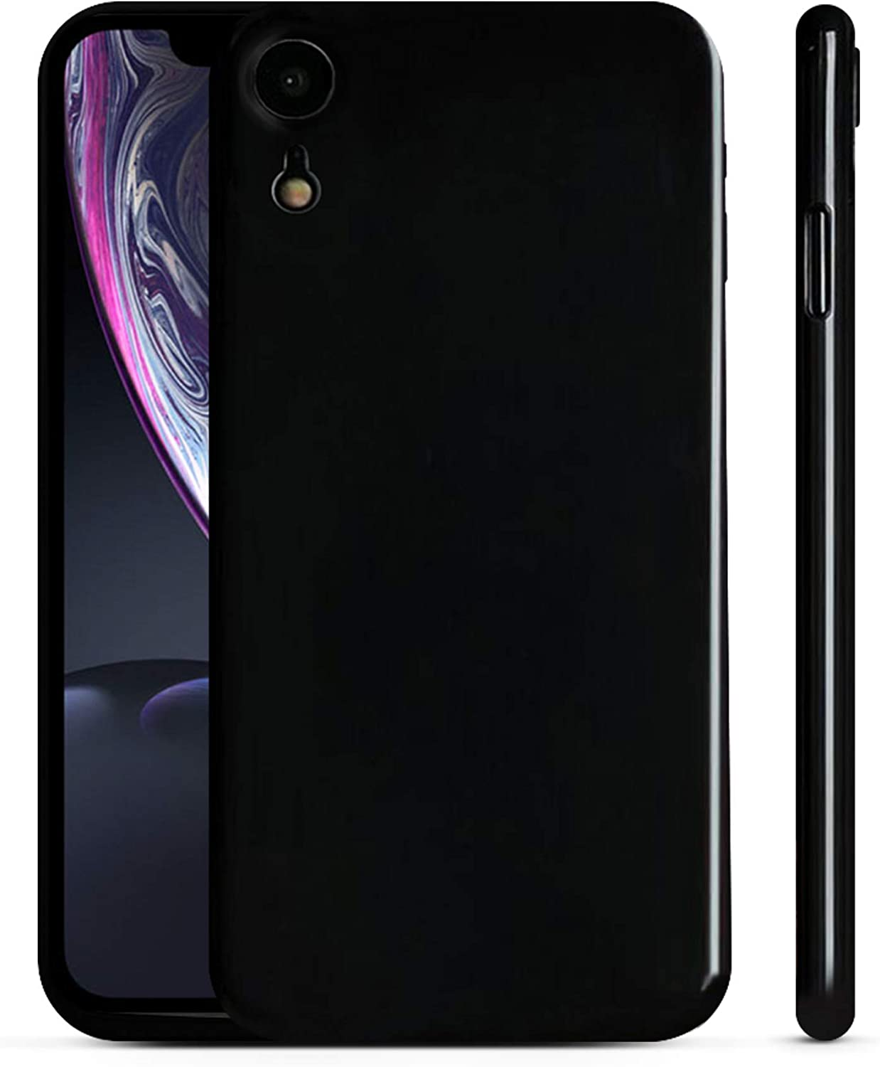 PEEL Ultra Thin iPhone XR Case, Jet Black - Minimalist Design | Branding Free | Protects and Showcases Your Apple iPhone XR